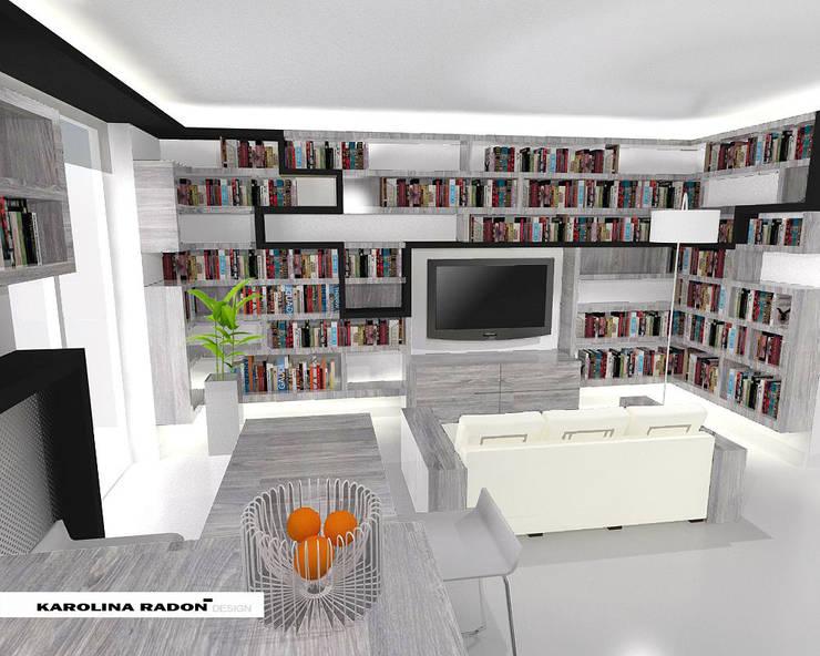 Saska Apartment: styl , w kategorii Salon zaprojektowany przez Karolina Radoń Design