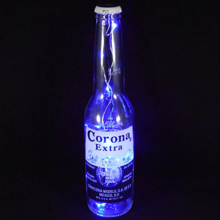 Corona Bottle Light:  Living room by Go Eco Store