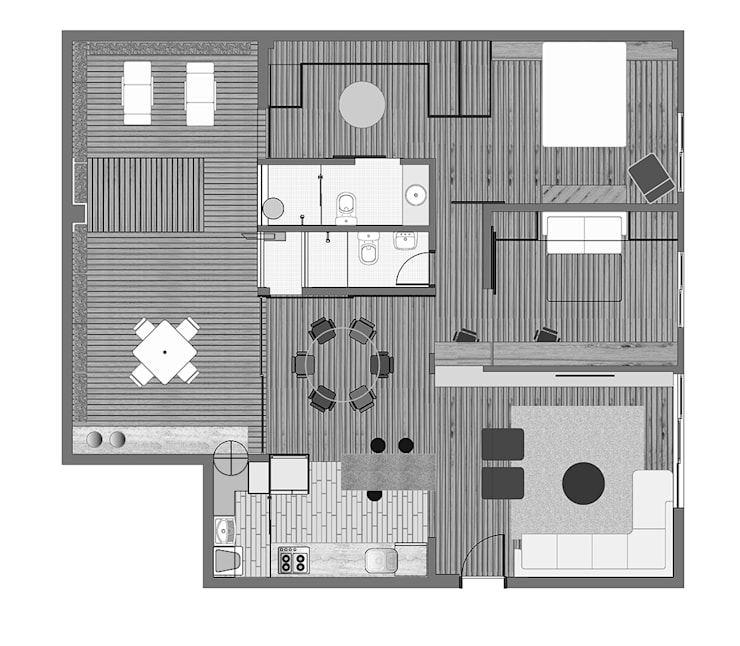 Interior | Apartamento – I:   por ARQdonini Arquitetos Associados