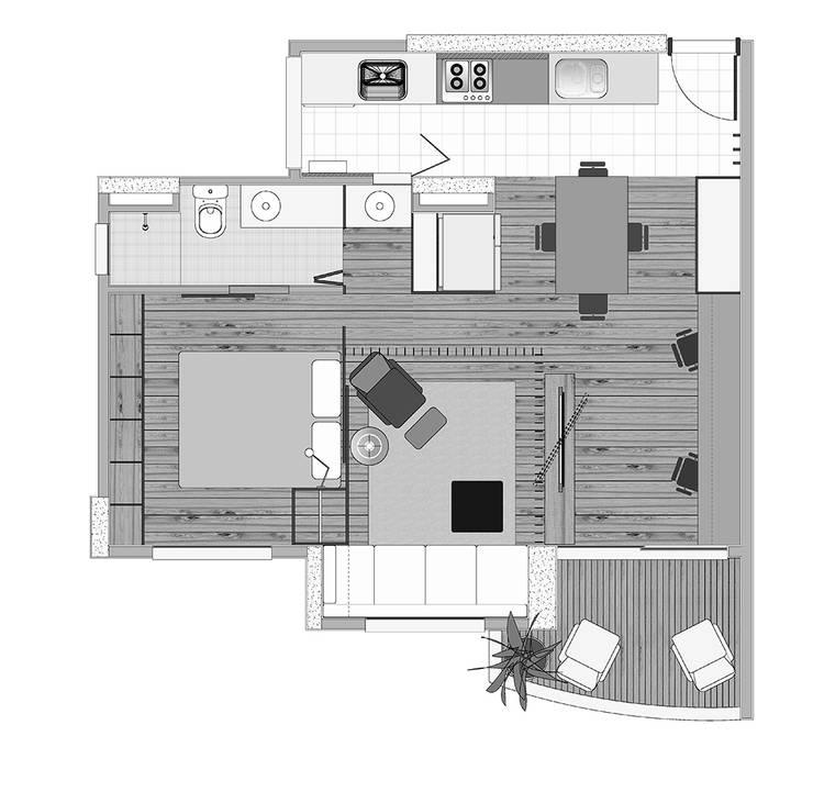 Interior | Apartamento - II:   por ARQdonini Arquitetos Associados