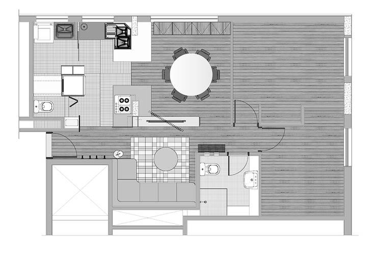 Interior   Apartamento - III:   por ARQdonini Arquitetos Associados,