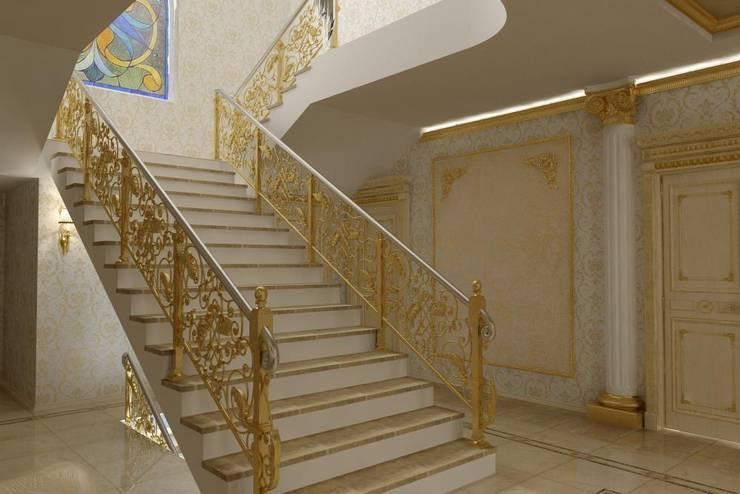 Дизайн холла в стиле Ампир: Коридор и прихожая в . Автор – Дизайн студия 'Exmod' Павел Цунев
