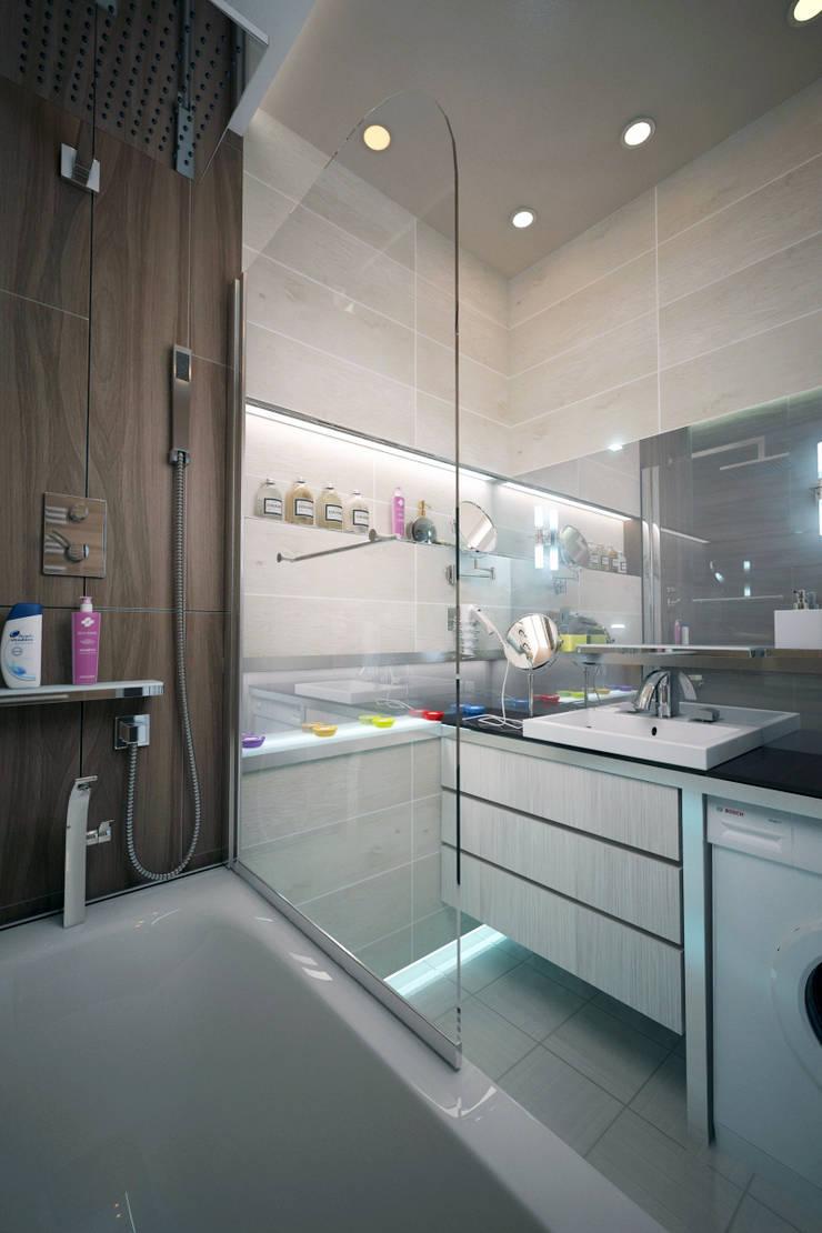 Ванная в новостройках Москвы: Ванные комнаты в . Автор – Myroslav Levsky