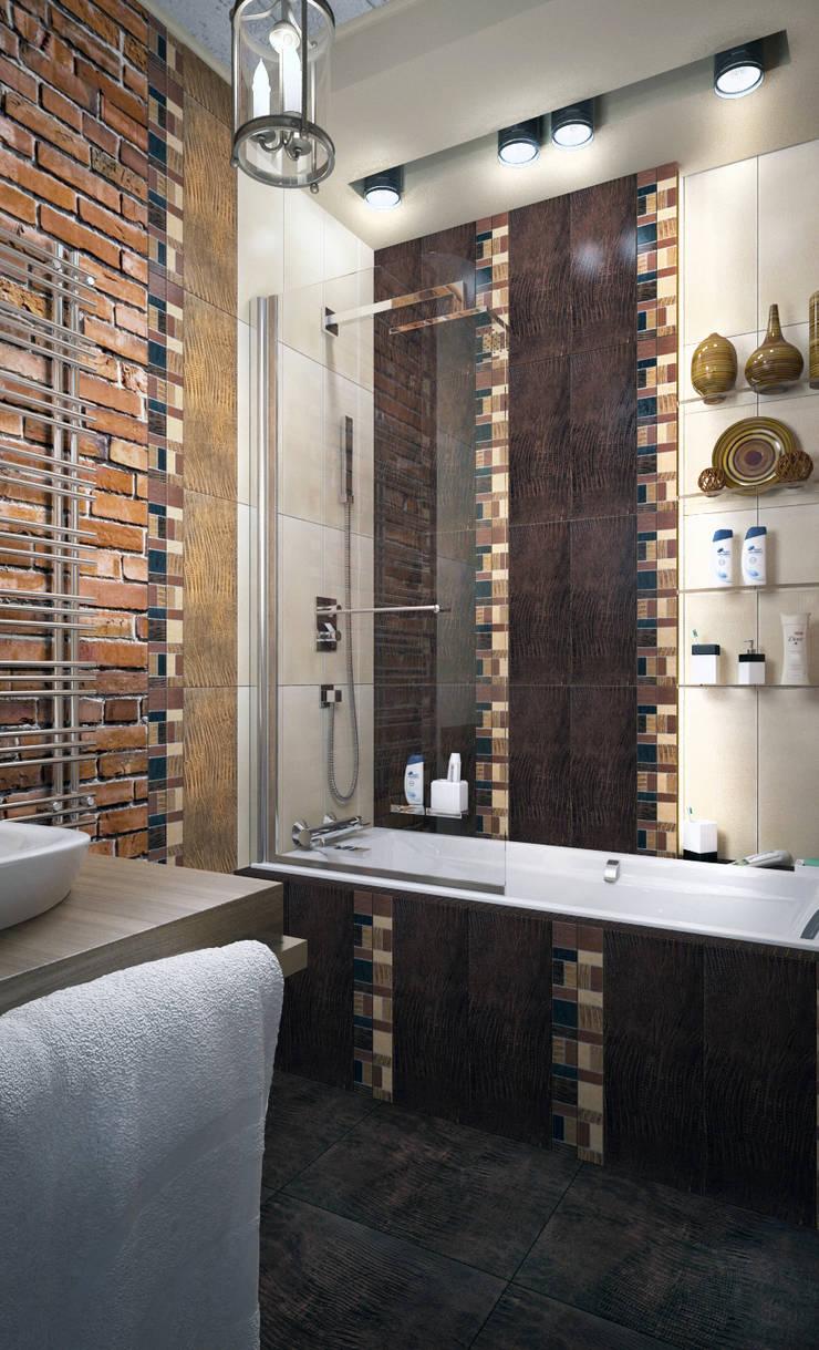 Стандартная ванная в  стиле лофт - новостройки Москвы: Ванные комнаты в . Автор – Myroslav Levsky