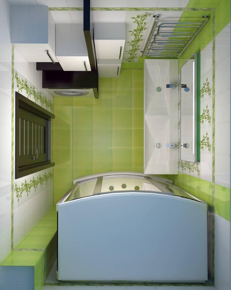 Ванная  – новостройки Москвы: Ванные комнаты в . Автор – Myroslav Levsky, Модерн