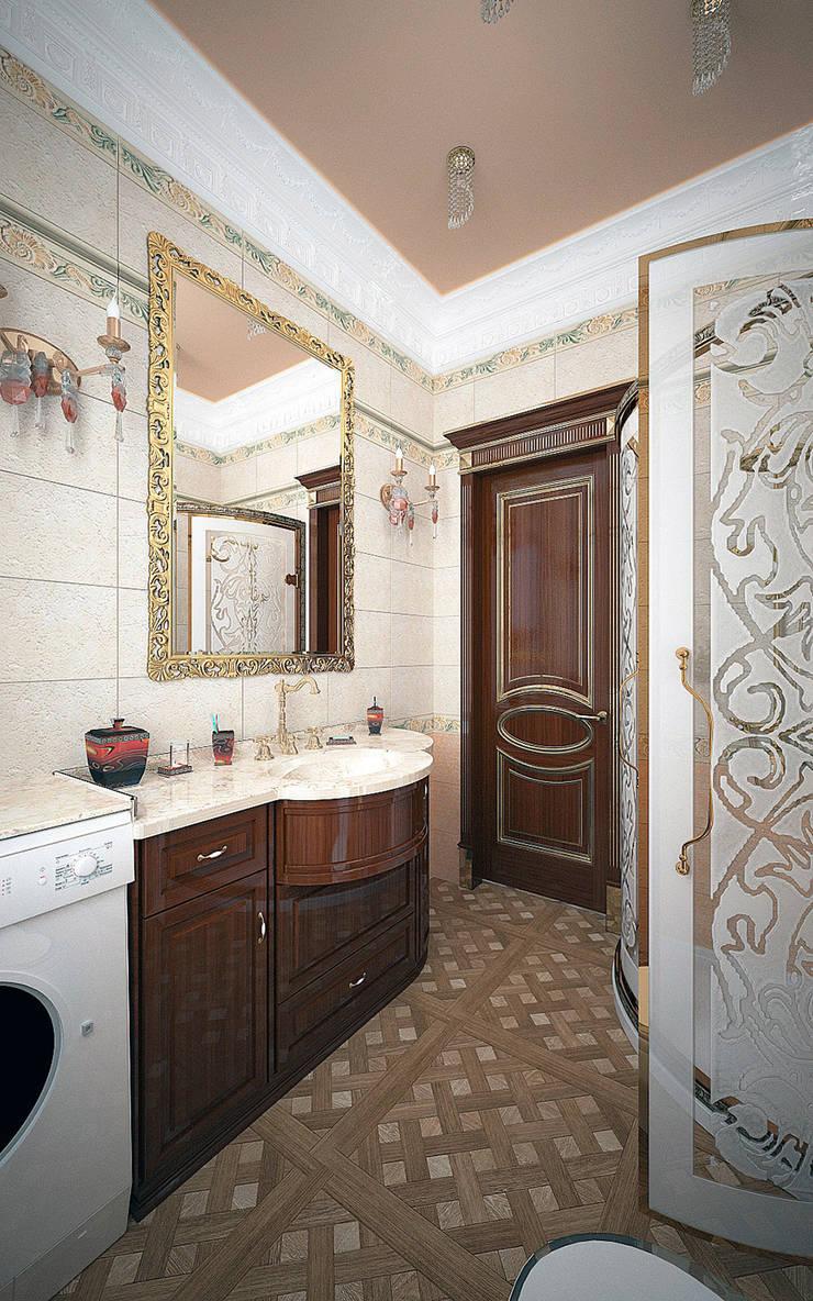 Гостевая ванная - дом в классическом стиле: Ванные комнаты в . Автор – Myroslav Levsky