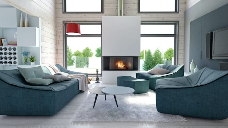 Salas de estilo minimalista por INT2architecture