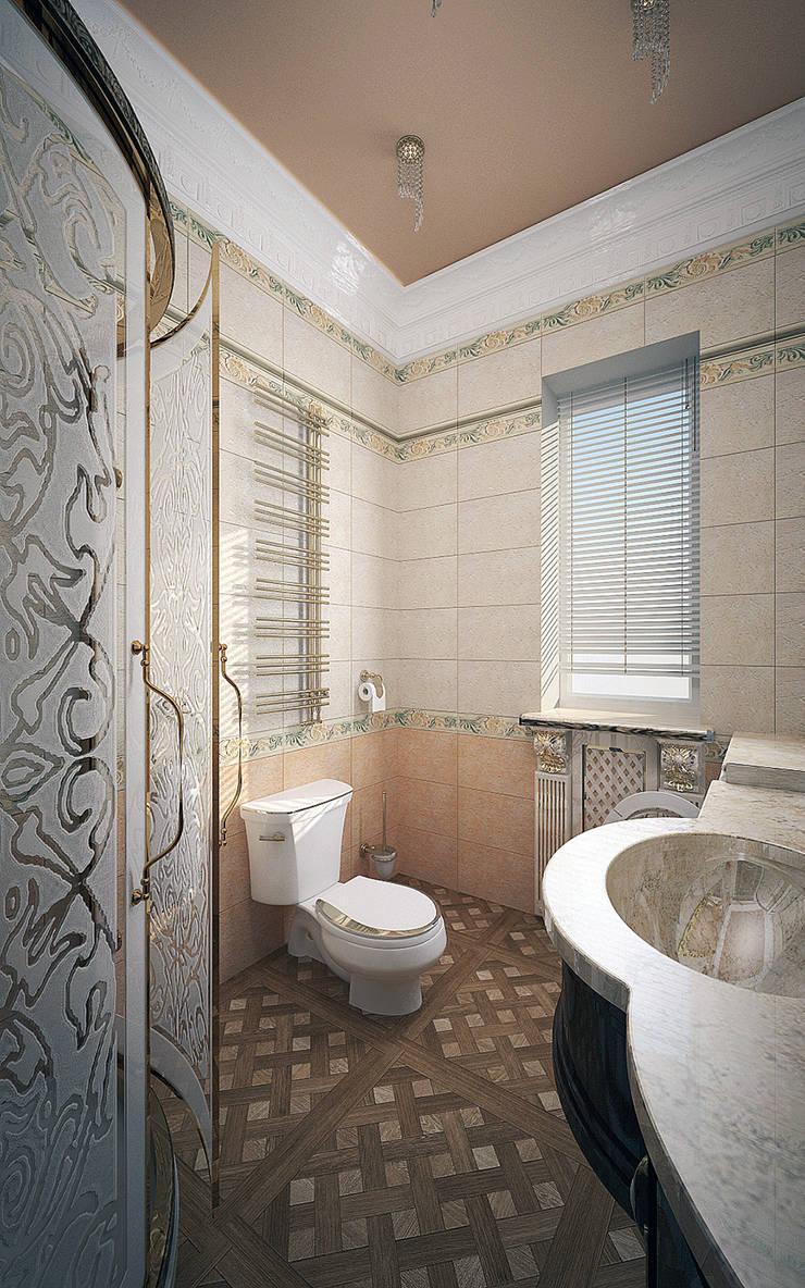 Гостевая ванная – дом в классическом стиле: Ванные комнаты в . Автор – Myroslav Levsky