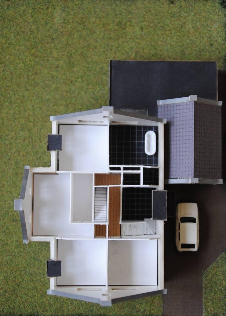 maquette 1e verdieping:   door halma-architecten