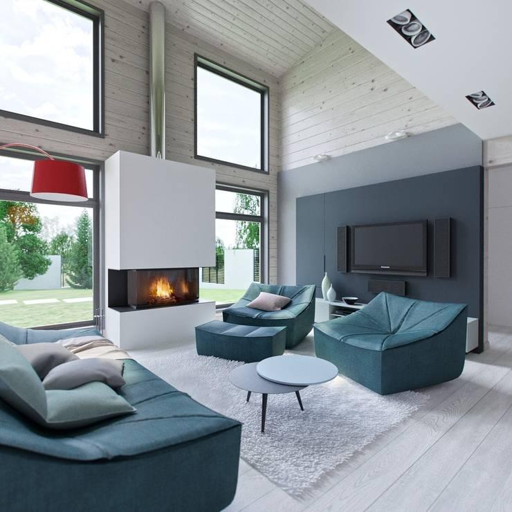 Интерьер дома AUS: Гостиная в . Автор – INT2architecture