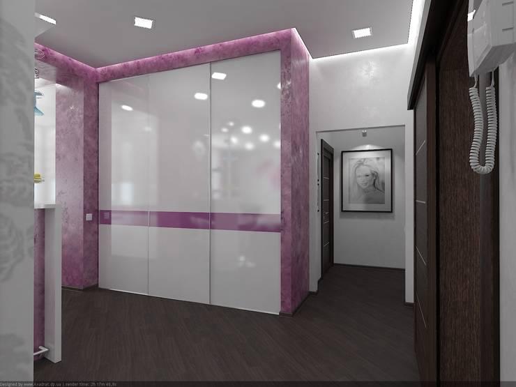 Квартира в ЖК «ПРЕМЬЕР» г. Кривой Рог УКРАИНА: Коридор и прихожая в . Автор – дизайн-студия 'КВАДРАТ'