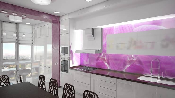 Кухни в . Автор – дизайн-студия 'КВАДРАТ'