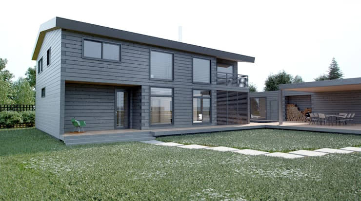 Дом AUS: Дома в . Автор – INT2architecture