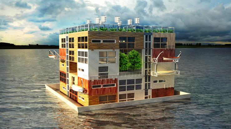 Moving H2ouses/ Мигрирующие дома H2O: Дома в . Автор – INT2architecture