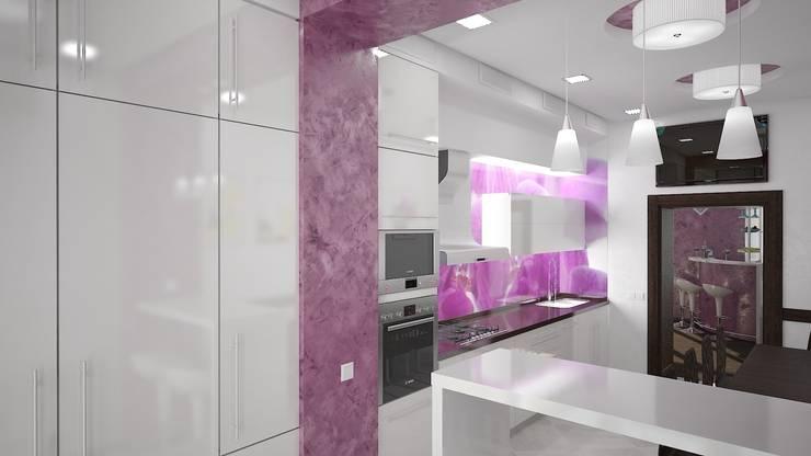Квартира в ЖК «ПРЕМЬЕР» г. Кривой Рог УКРАИНА: Кухни в . Автор – дизайн-студия 'КВАДРАТ'