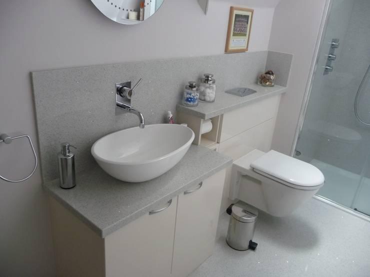 Silestone Stellar Blanco Quartz :  Bathroom by Marbles Ltd