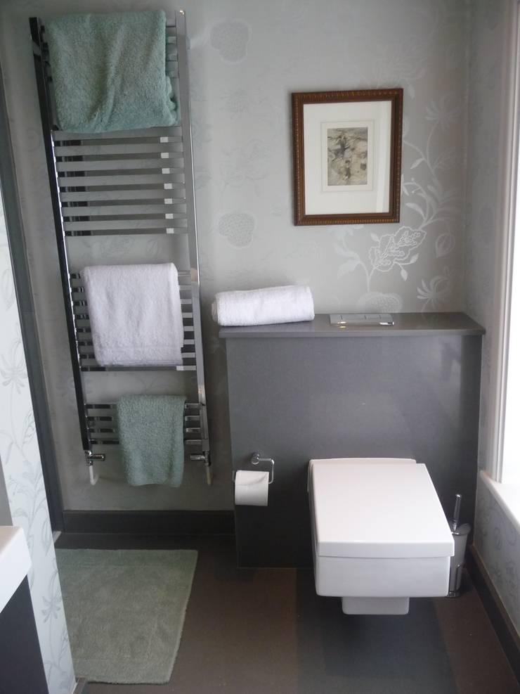 Compac Karim Silver Quartz:  Bathroom by Marbles Ltd
