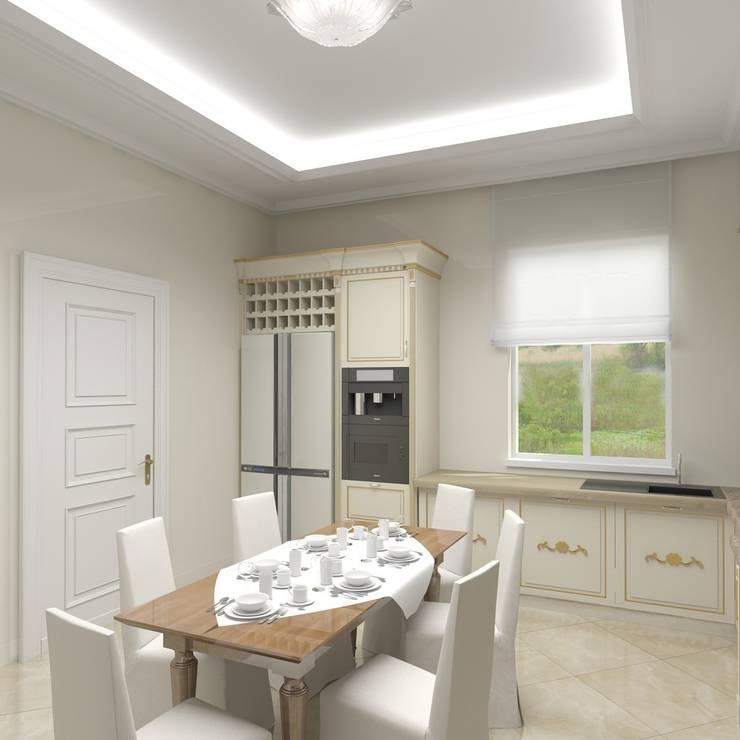 Интерьер загородного жилого дома в Днепропетровской области 519 м2: Кухни в . Автор – KARYADESIGN architecture studio