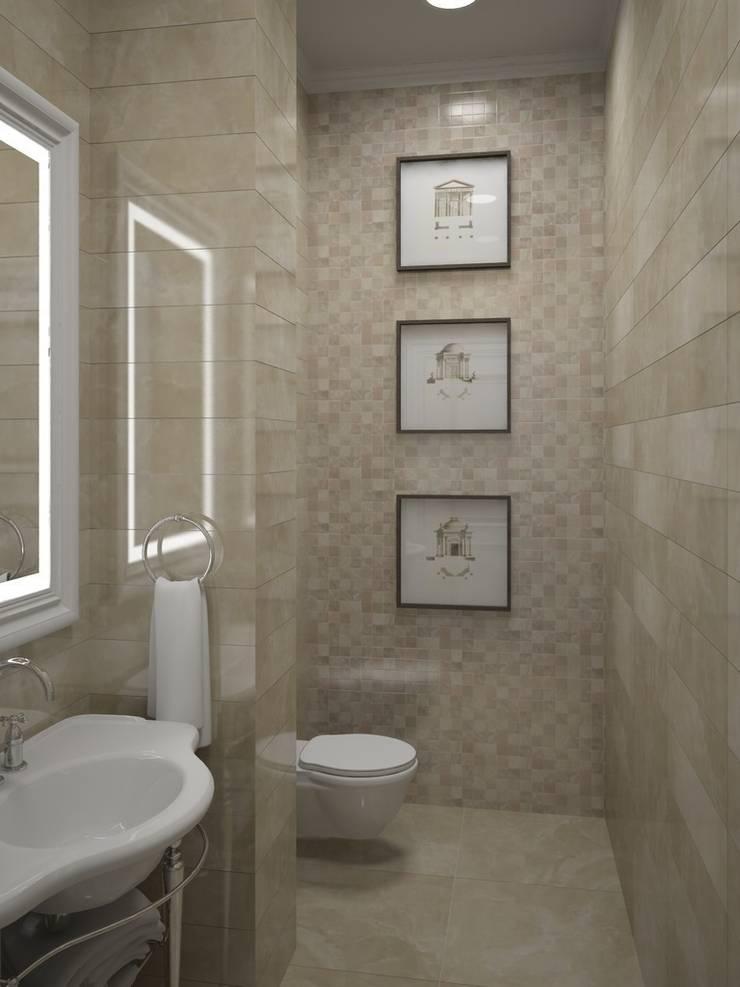 Интерьер загородного жилого дома в Днепропетровской области 519 м2: Ванные комнаты в . Автор – KARYADESIGN architecture studio