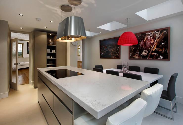 Grey Kitchen with Island :  Kitchen by Elan Kitchens