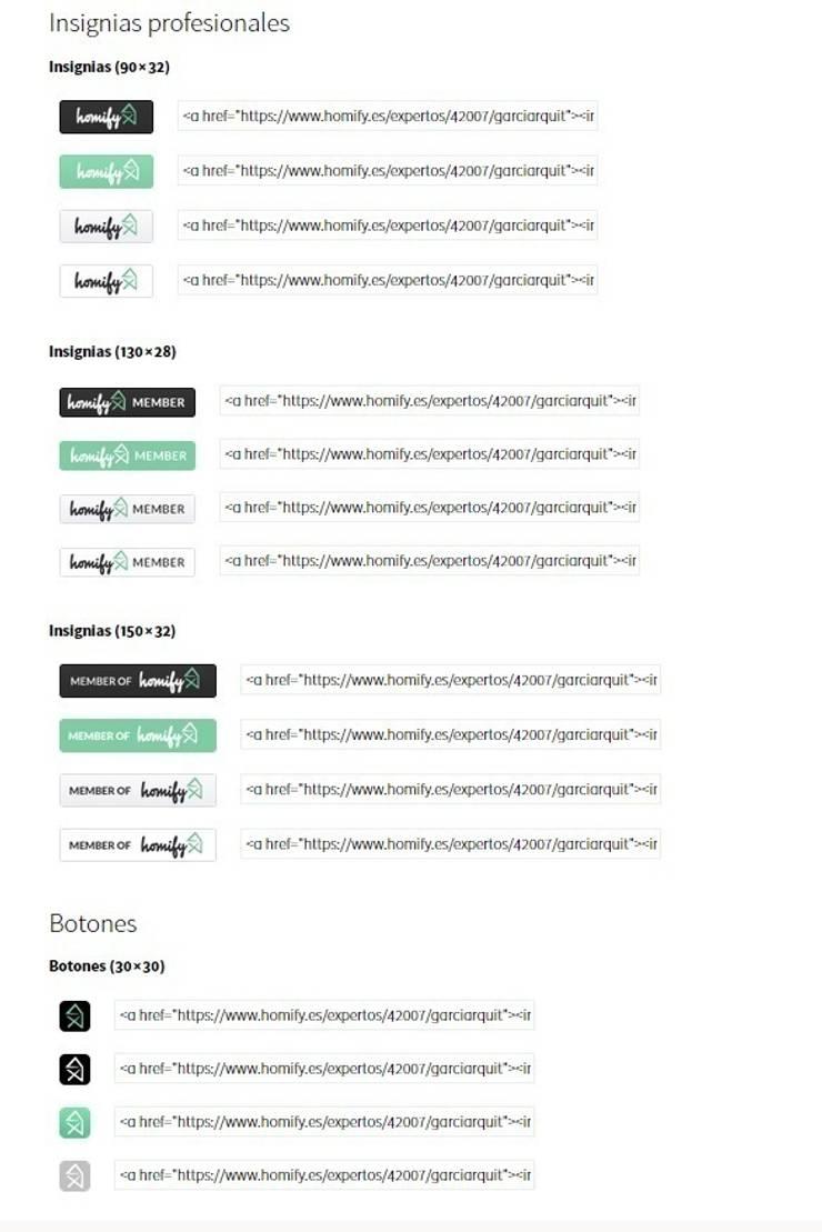 Añadir badges y widgets:  de estilo  de Ayuda homify