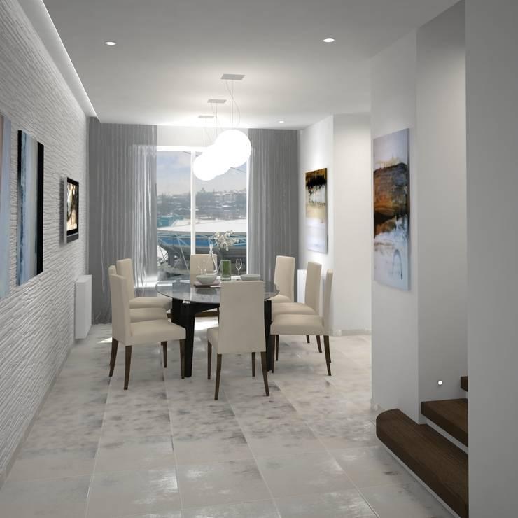 Двухуровневая квартира 160 м2: Столовые комнаты в . Автор – KARYADESIGN architecture studio