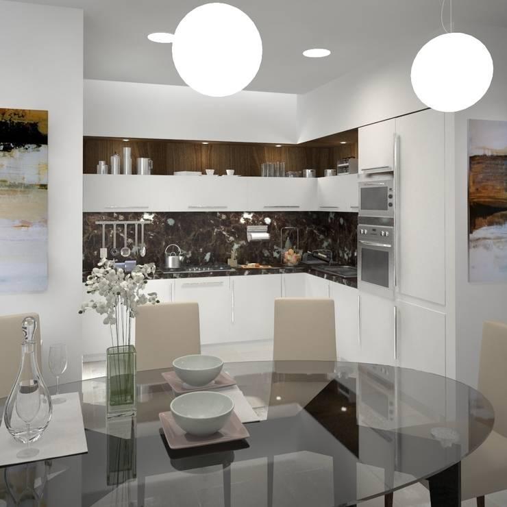 Двухуровневая квартира 160 м2: Кухни в . Автор – KARYADESIGN architecture studio