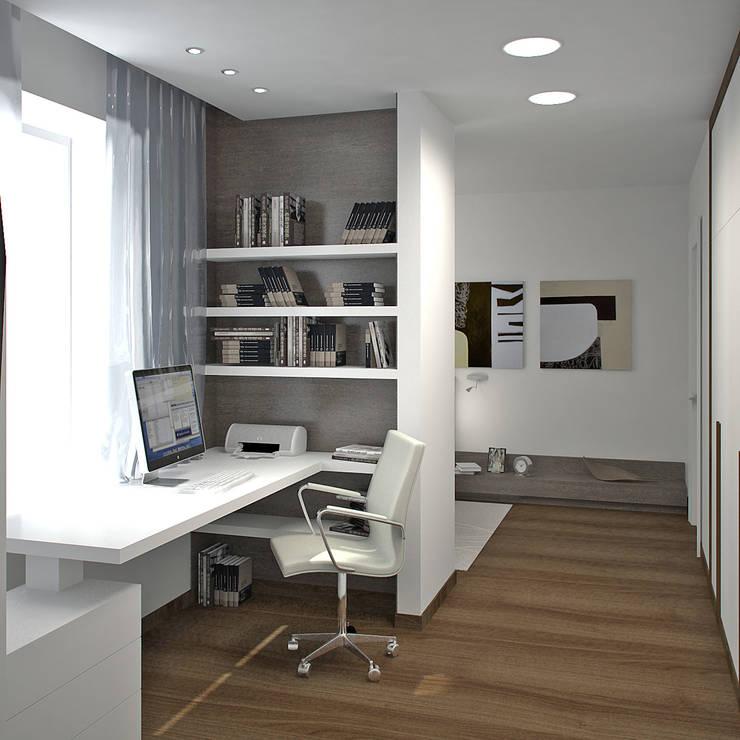 Двухуровневая квартира 160 м2: Рабочие кабинеты в . Автор – KARYADESIGN architecture studio