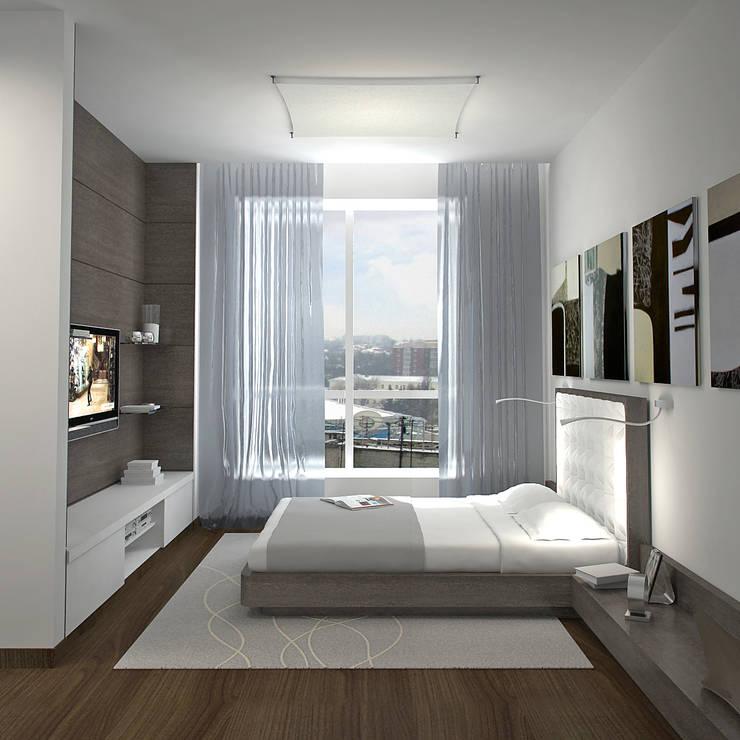 Двухуровневая квартира 160 м2: Спальни в . Автор – KARYADESIGN architecture studio
