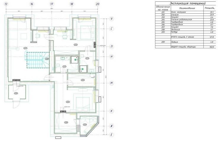 План второго уровня квартиры:  в . Автор – KARYADESIGN architecture studio