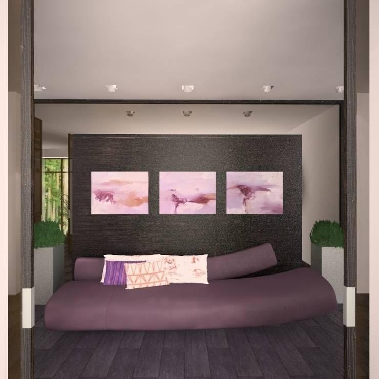 Загородный жилой дом 380 м2: Коридор и прихожая в . Автор – KARYADESIGN architecture studio