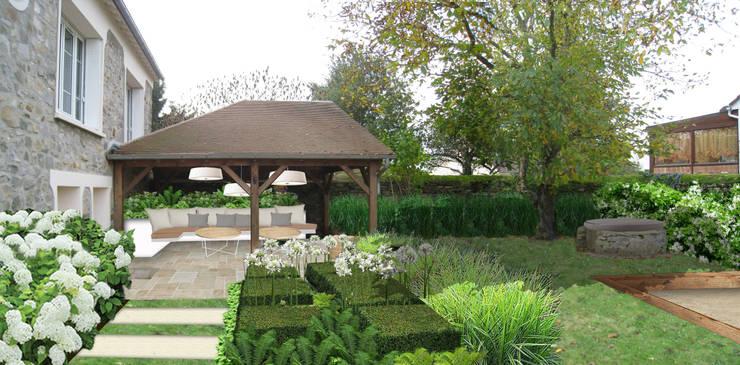 Jardin côté Nord-Ouest (Projet): Jardin de style  par Sophie coulon - Architecte Paysagiste