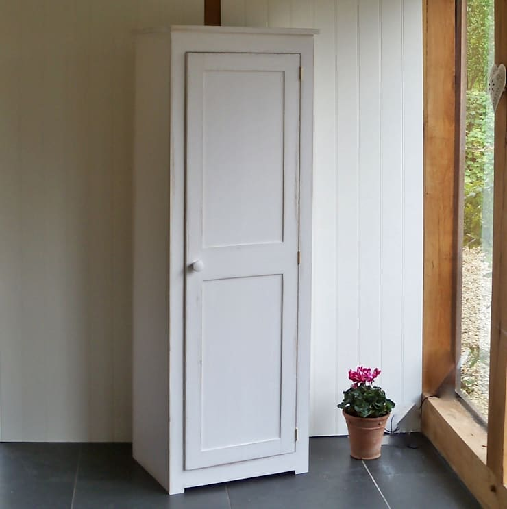 Hand Painted Shaker Cupboard:  Living room by Rectory Blue