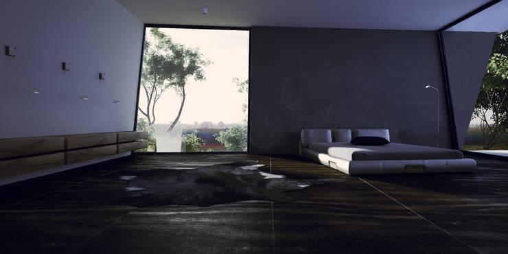 modern room : Chambre de style  par New Home Agency