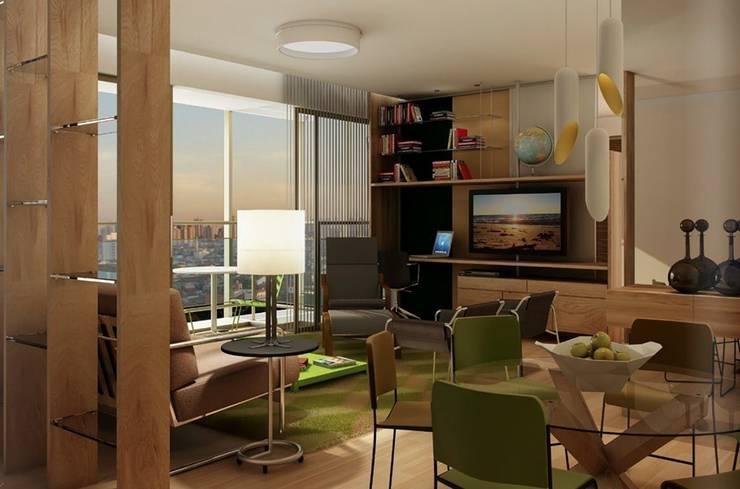 Let's Perdizes | edifício: Salas multimídia  por ARQdonini Arquitetos Associados,Moderno