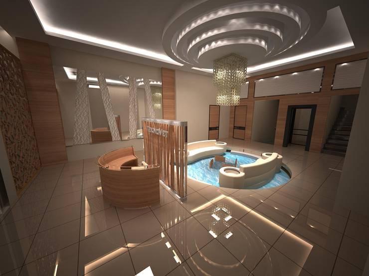 Lal Mimarlık – Teknovet Lobi Tasarım:  tarz Ofisler ve Mağazalar