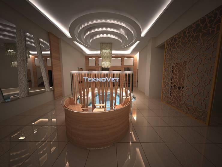 Lal Mimarlık – Modern Lobi 3 boyutlu proje:  tarz İç Dekorasyon