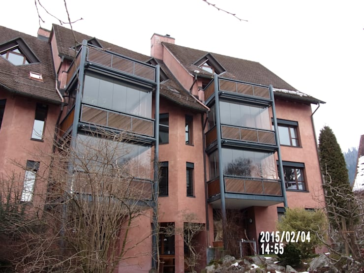 Balkonverglasung Im Wohnobjekt Von Biotec Homify