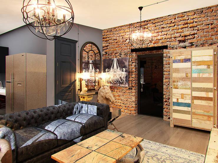 Апартаменты  для молодой пары в Москве: Коридор и прихожая в . Автор – Anna Vladimirova