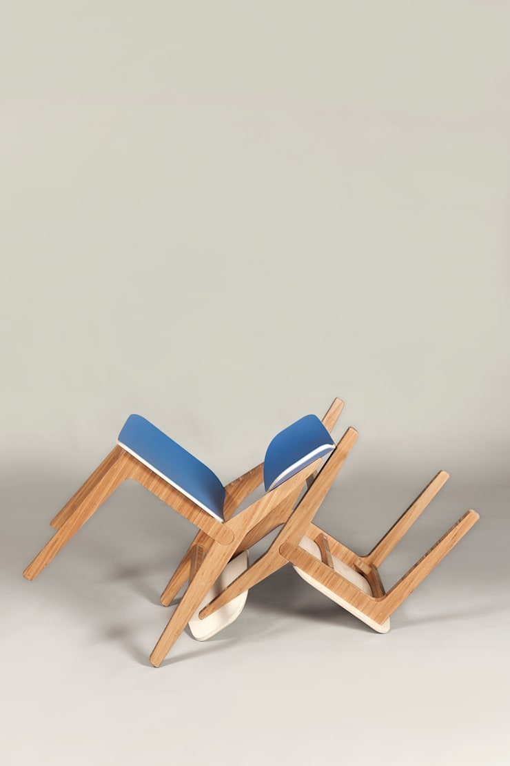 Neighbourhood Chair - Cornflower Blue and Pearl:  Dining room by ByALEX