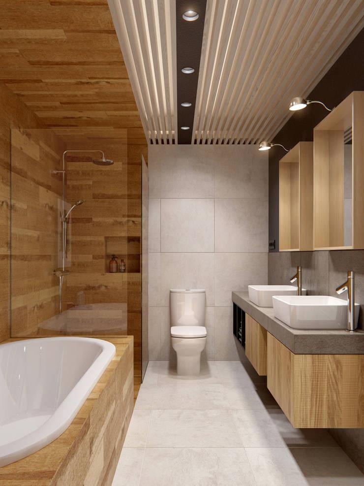 Интерьер OOD: Ванные комнаты в . Автор – INT2architecture