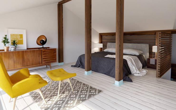 Dormitorios pequeños de estilo  por INT2architecture