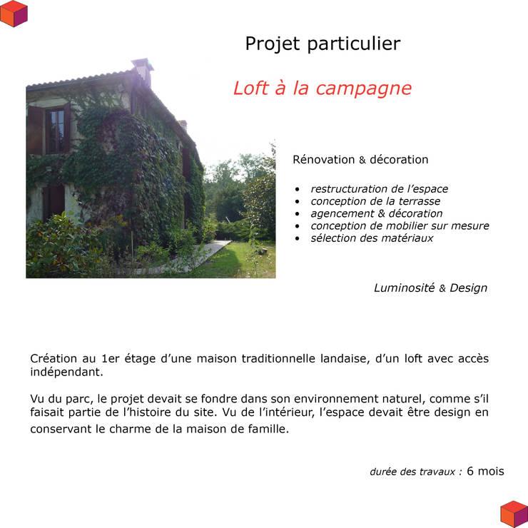résidence secondaire : loft à la campagne: Maisons de style  par Modularoom