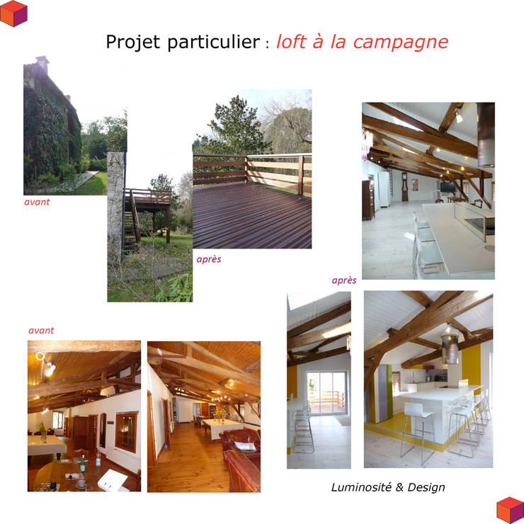 résidence secondaire : loft à la campagne:  de style  par Modularoom