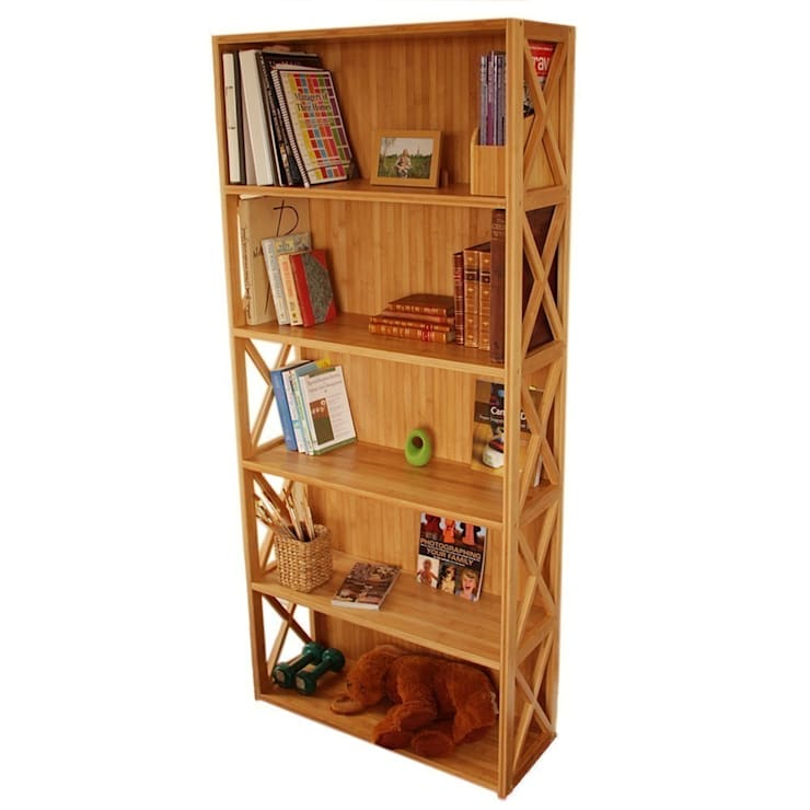 Stackable Bookcase, 5 Book Shelves: modern Study/office by Finoak LTD