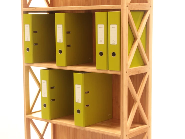 Stackable Bookcase, 5 Book Shelves:  Office spaces & stores  by Finoak LTD
