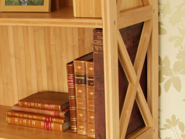Stackable Bookcase, 5 Book Shelves:  Study/office by Finoak LTD
