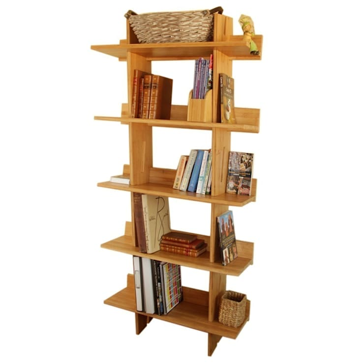 Bookcase, 5 Book Shelves:  Living room by Finoak LTD