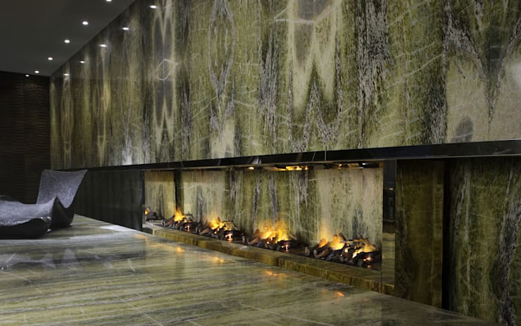 Biocaminetto ad acqua: Spa in stile in stile Mediterraneo di Dim-ora