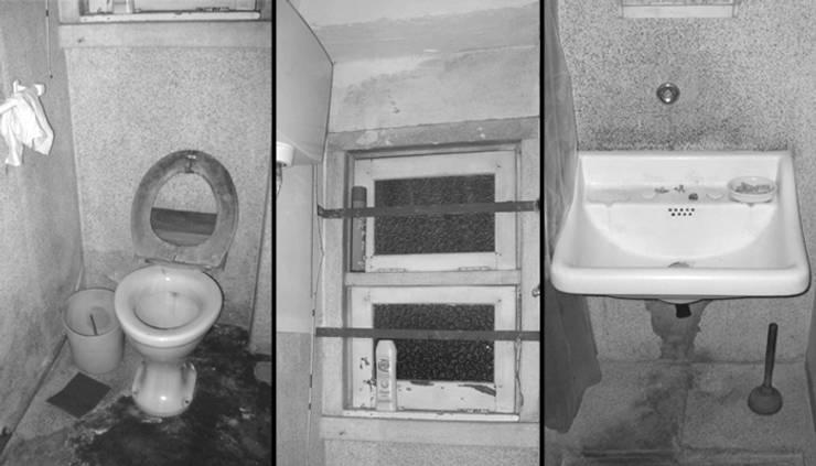Instalação sanitária social - Antes:   por Atelier da Calçada